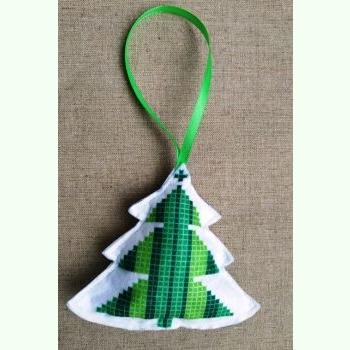ШНФ-011. Пошита новорічна іграшка для вишивки бісером.