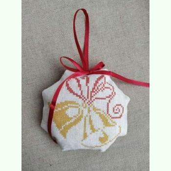 ШНЛ-017. Пошита новорічна іграшка для вишивки бісером.