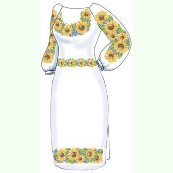 ВПЖБ-17. Лляна біла жіноча сукня