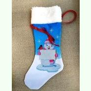 ЧХ-15. Пошитий новорічний чобіток з хутром, під вишивку.