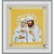 Святі Петро і Февронія (ажур) золото P-375