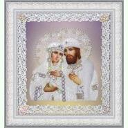 Святі Петро і Февронія (ажур) срібло P-376