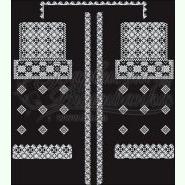 БЖ049лЧ. Лляна чорна жіноча вишиванка