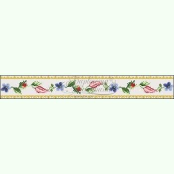 Лілеї, троянди, незабудки СЖ036лМ. Лляна бежева жіноча спідниця