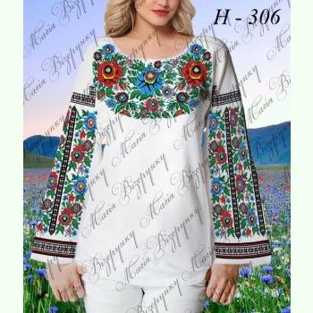НД-306. Заготовка до білої домотканої жіночої вишиванки