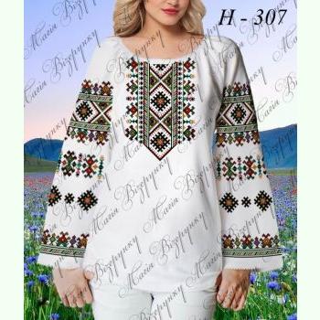 НД-307. Заготовка до білої домотканої жіночої вишиванки