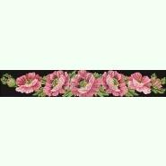 Маки рожеві СЖ042лЧ. Лляна чорна жіноча спідниця