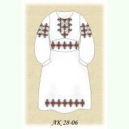 Ажурненька АК 28-06 Л. Заготовка дитячої сукні кольору льону