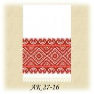 АК 27-16 Л. Заготовка до сірого традиційного рушника