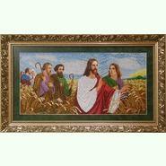 Иисус с апостолами в поле