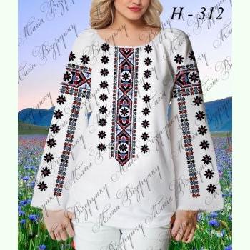 НД-312. Заготовка до білої домотканої жіночої вишиванки