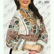 Модельна НД-509. Жіноча біла домоткана заготовка для вишивання