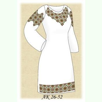 Пісня Гір АК 26-52 ДЛ. Заготовка жіночої сукні на бежевому домотканому полотні