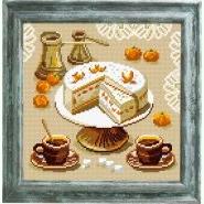 Торт, мандарини та кава BE-17