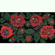 Ніжні троянди КЛ062кЧ. Пошитий чорний атласний клатч для вишивання бісером