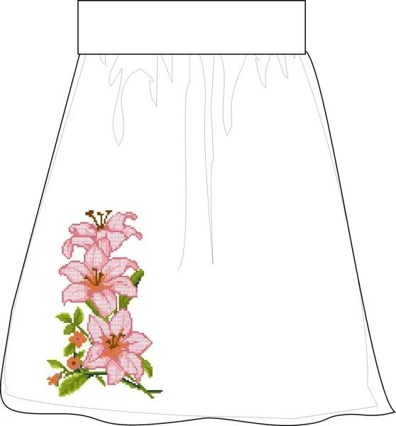СПЖЛ-11. Лляна сіра заготовка жіночої спідниці