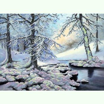 """Купить  """"Зимний лес S-020 """".  Производитель: Картины Бисером.  Раздел: Схемы для вышивки бисером/Схемы."""