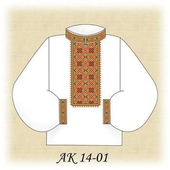 Заготовка чоловічої вишиванки АК 14-01