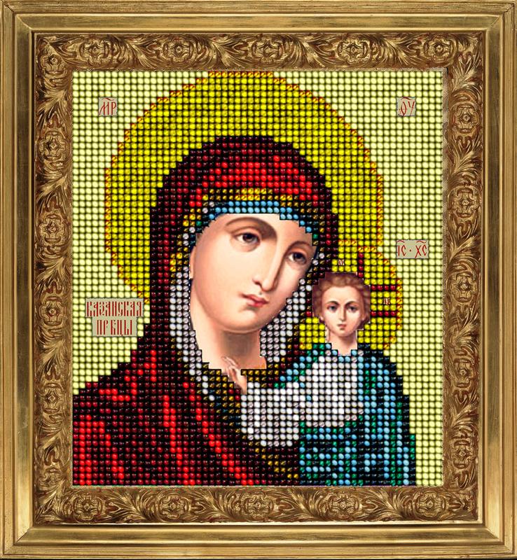 Икона для вышивки казанская 195