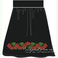 Лляна чорна жіноча спідниця СПЖЧ-24