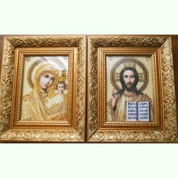 Пара золотистых икон