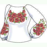 Льняная серая женская вышиванка СВЖЛ-22