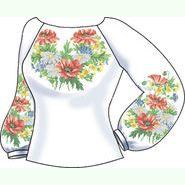 Домоткана біла жіноча вишиванка СВЖП-19