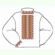 Бязевая белая мужская вышиванка ВМБ-003