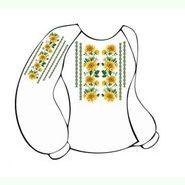 Лляна біла жіноча вишиванка ВЖЛ-005Б