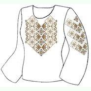 Лляна біла жіноча вишиванка ВЖЛ-012Б