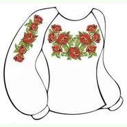 Бязевая белая женская вышиванка ВЖБ-001Б