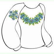 Бязевая белая женская вышиванка ВЖБ-003