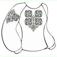 Бязевая белая женская вышиванка ВЖБ-004