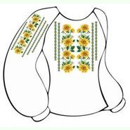 Бязевая белая женская вышиванка ВЖБ-005