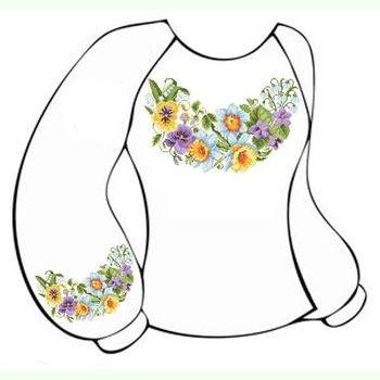 Бязевая белая женская вышиванка ВЖБ-011