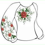 Бязевая белая женская вышиванка ВЖБ-015