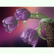 Фиолетовые тюльпаны S-161