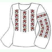 Бязевая белая женская вышиванка ВЖБ-016