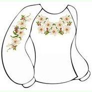 Бязевая белая женская вышиванка ВЖБ-021