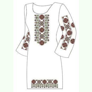 Домотканое белое платье ПлД-004Б