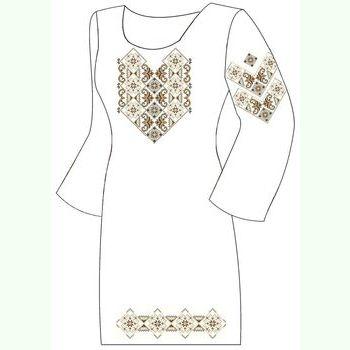 Домотканое белое платье ПлД-005Б