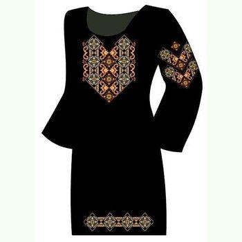 Чёрное женское платье ПлКт-005Ч