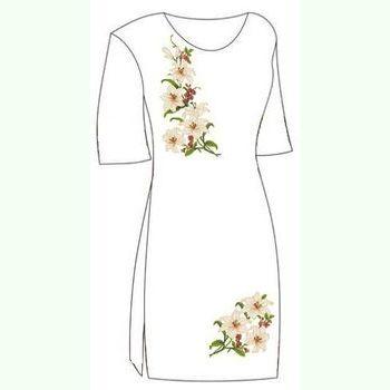 Льняное белое платье ПлЛ-001Б