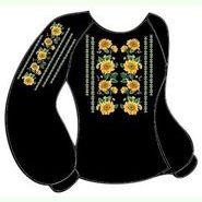 Чёрная женская вышиванка ВЖКт-005Ч
