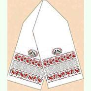 Домотканый белый свадебный рушник РД-016-21/50