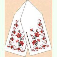 Льняной белый рушник РЛ-009-15