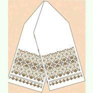 Льняной белый рушник РЛ-015-22