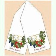 Льняной белый свадебный рушник РЛ-002-15