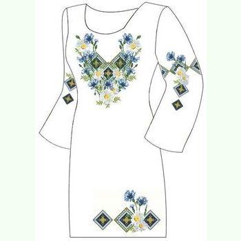 Домотканое белое платье ПлД-008Б