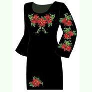 Чёрное женское платье ПлКт-002Ч
